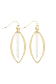 Riah Fashion Open-Marquise With-Bar Drop-Earrings - Product Mini Image