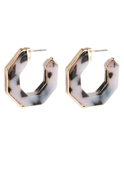 Riah Fashion Open-Polygon Faceted-Acetate Earrings - Product Mini Image