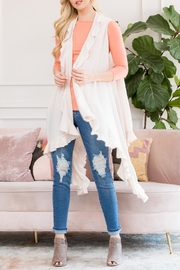 Riah Fashion Open Ruffled Sleeveless-Cardigans - Product Mini Image