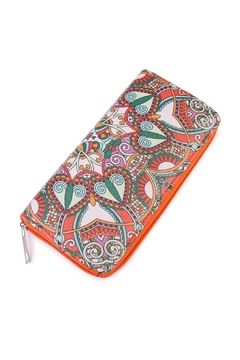 Shoptiques Product: Orange Abstract Print Wallet