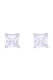 Riah Fashion Org-6mm-Square-Cubic-Zirconia-Stud-Earrings - Front cropped