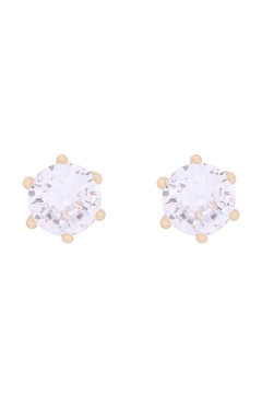 Riah Fashion Org-7mm-Round-Cubic-Zirconia-Stud-Earrings - Product List Image
