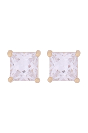 Riah Fashion Org-7mm-Square-Cubic-Zirconia-Stud-Earrings - Product Mini Image