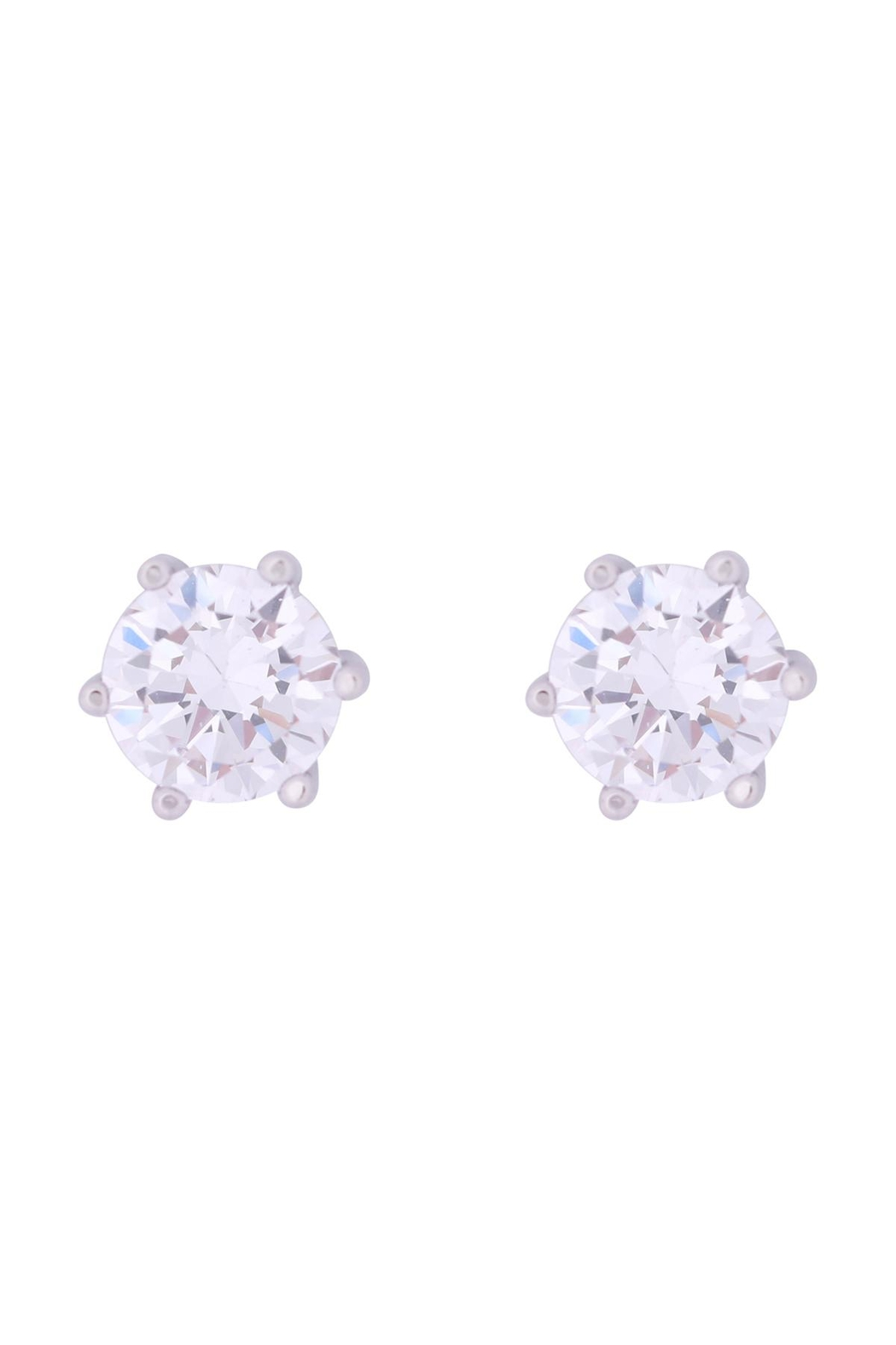Riah Fashion Org-8mm-Round-Cubic-Zirconia-Stud-Earrings - Front Cropped Image