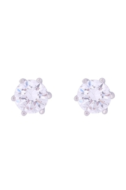 Riah Fashion Org-8mm-Round-Cubic-Zirconia-Stud-Earrings - Front cropped