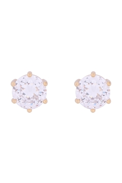 Riah Fashion Org-8mm-Round-Cubic-Zirconia-Stud-Earrings - Product List Image