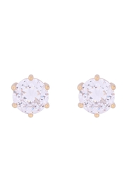 Riah Fashion Org-8mm-Round-Cubic-Zirconia-Stud-Earrings - Product Mini Image