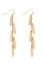 Riah Fashion Oval Chain Cluster Drop Fish Hook Earrings - Product Mini Image