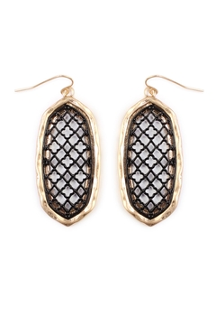 Shoptiques Product: Oval-Cut-Out Filigree Earrings