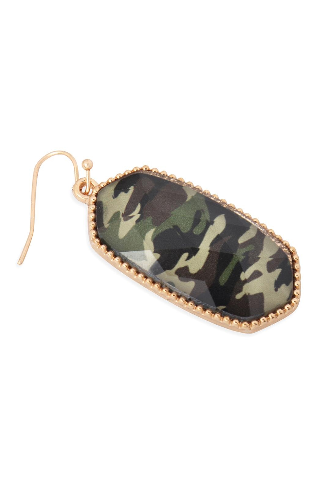 Riah Fashion Oval Drop Earrings - Front Full Image