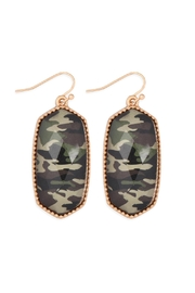 Riah Fashion Oval Drop Earrings - Front cropped