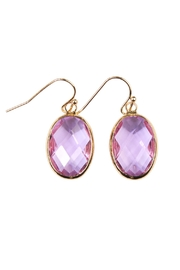 Riah Fashion Oval Drop Earrings - Product Mini Image
