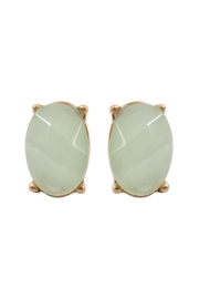 Riah Fashion Oval Gem-Cut Post-Earrings - Product Mini Image
