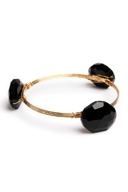 Riah Fashion Oval Gem Stone Bangle - Front cropped