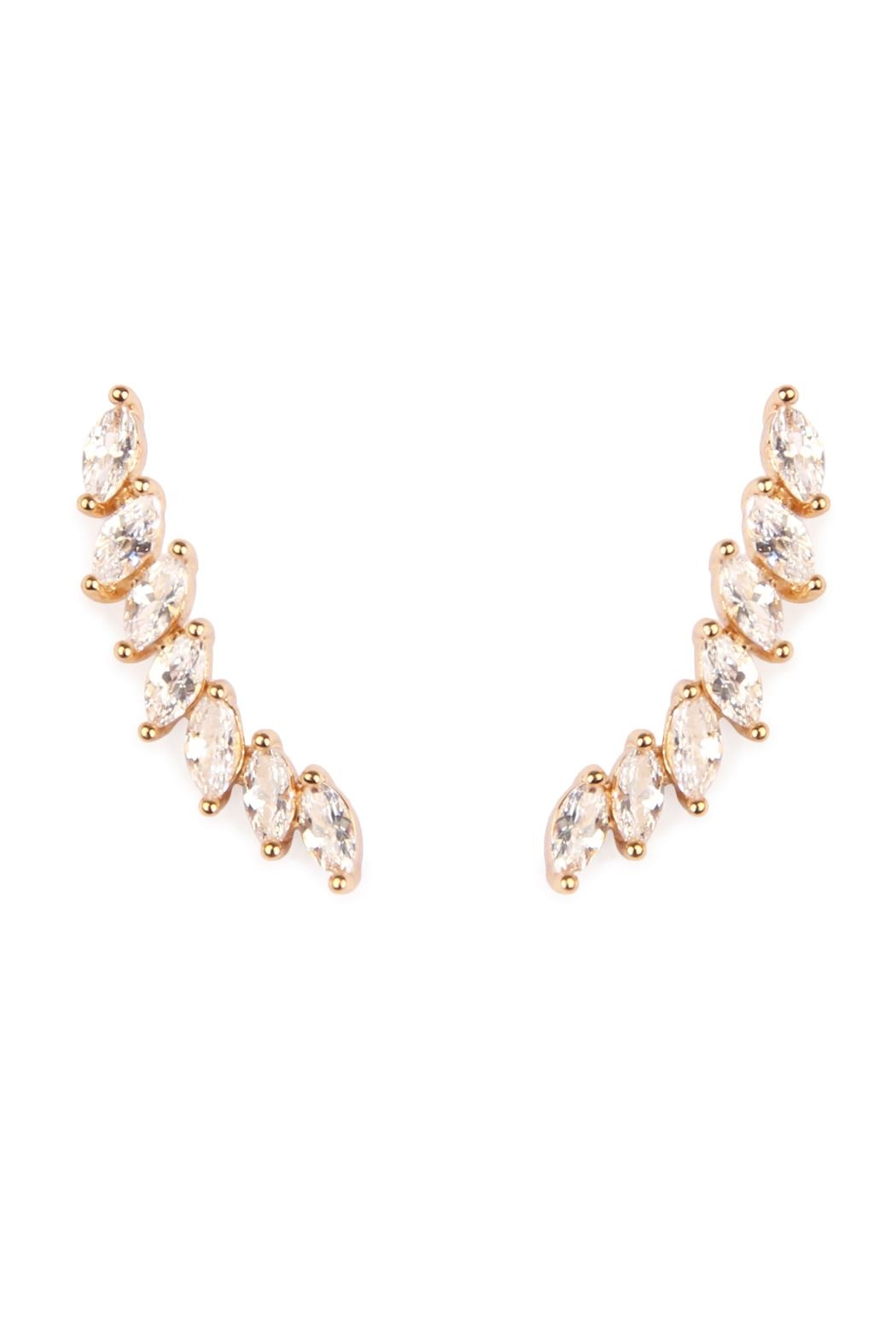 earrings oval gold shape diamond white stud products