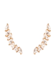 Riah Fashion Oval Shape Crawler Earrings - Product Mini Image