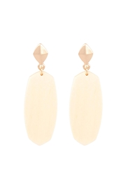 Riah Fashion Oval-Shaped-Wood-Post-Earrings - Front cropped