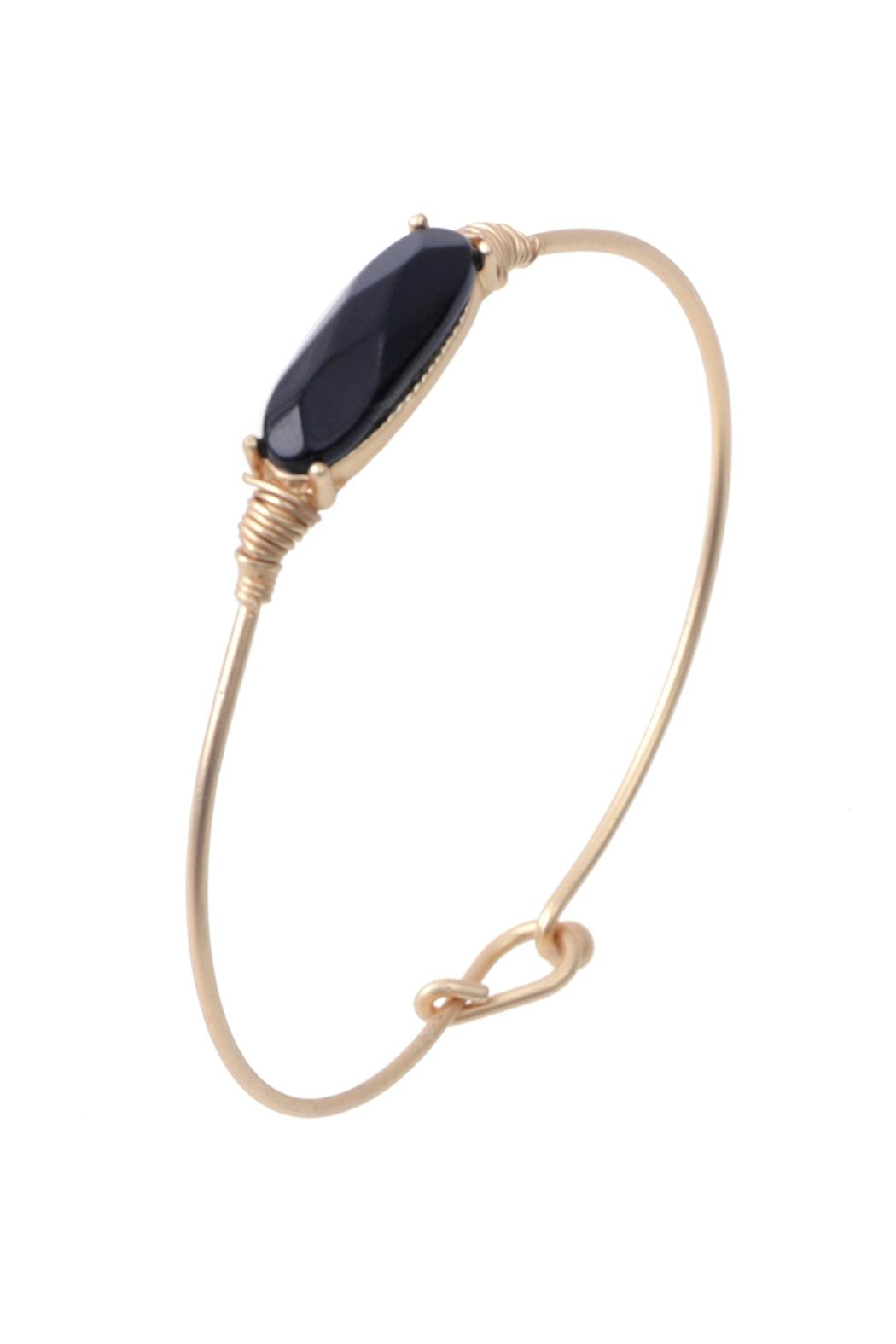 Riah Fashion Oval Stone Wired Bracelet - Main Image