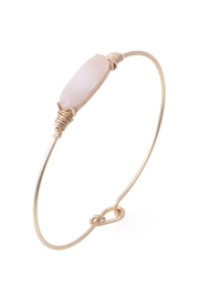 Riah Fashion Oval Stone Wired Bracelet - Front cropped