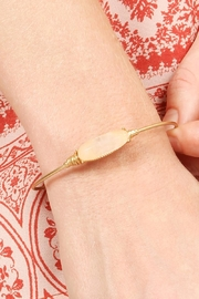 Riah Fashion Oval Stone Wired Bracelet - Front full body