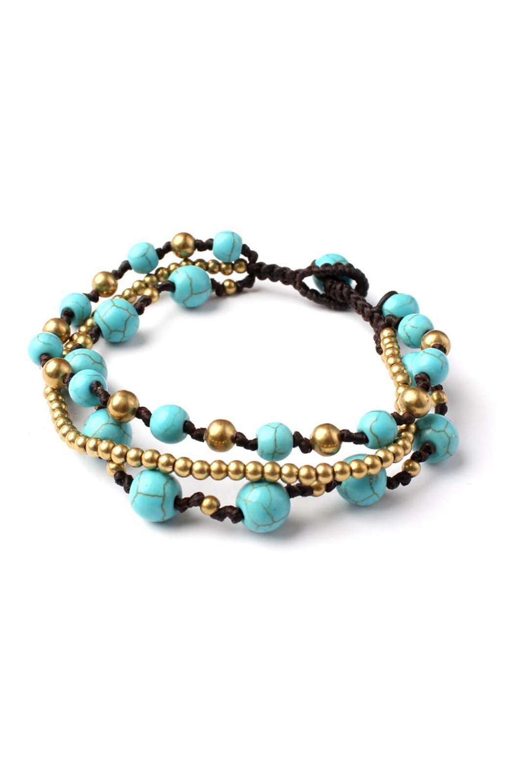 Riah Fashion Over-Layered Bead Bracelet - Main Image