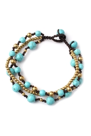 Riah Fashion Over-Layered Bead Bracelet - Front full body