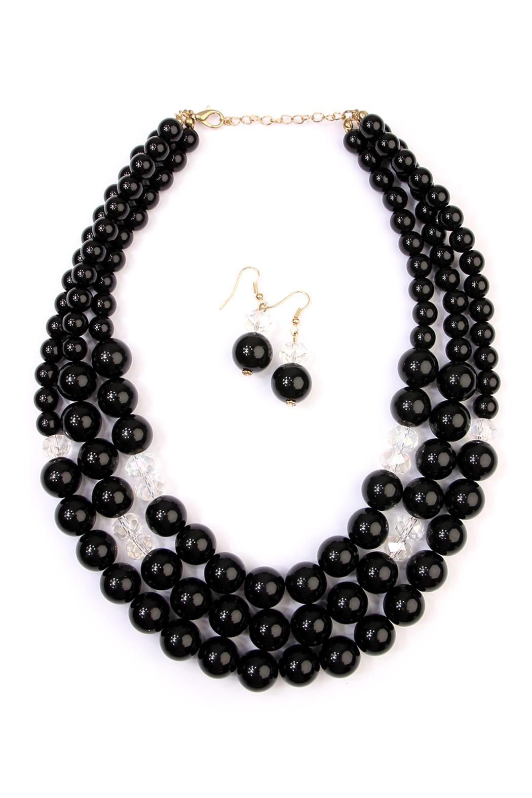 Riah Fashion Oversize Bead Necklace Set - Front Cropped Image