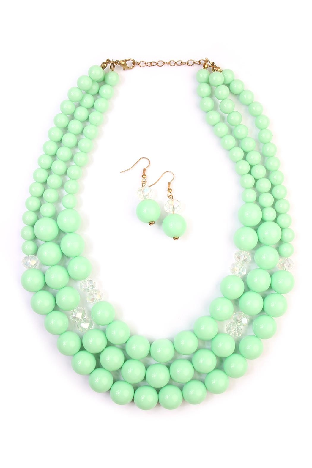 Riah Fashion Oversize Bead Necklace Set - Main Image