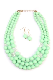 Riah Fashion Oversize Bead Necklace Set - Product Mini Image