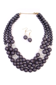 Riah Fashion Oversize Bead Necklace Set - Front cropped