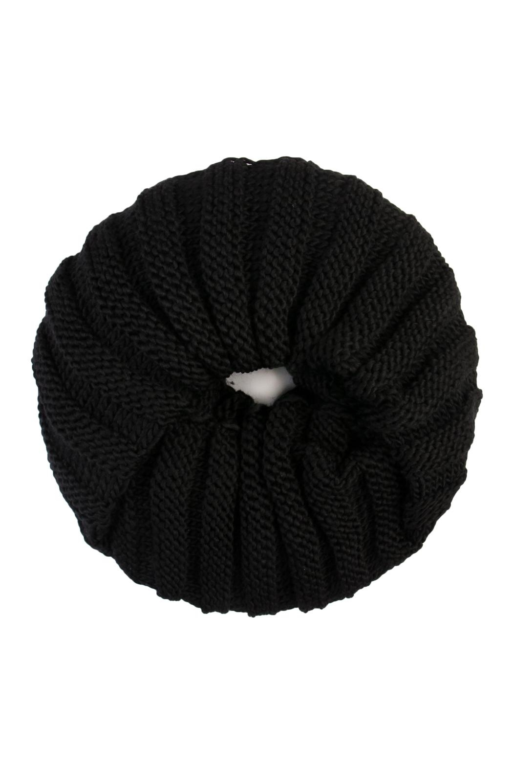 Riah Fashion Infinity Knit Scarf - Front Cropped Image