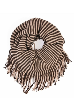 Shoptiques Product: Oversize Striped Infinity Scarf