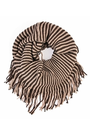 Riah Fashion Oversize Striped Infinity Scarf - Front cropped