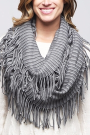 Riah Fashion Oversize Striped Infinity Scarf - Side cropped