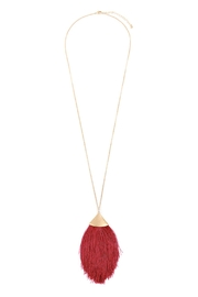 Riah Fashion Oversized-Tassel Dainty Necklace - Front cropped