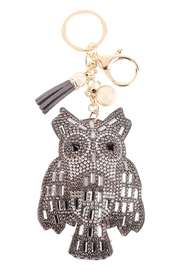 Riah Fashion Owl-Baguette-Stone-Keychain - Front cropped