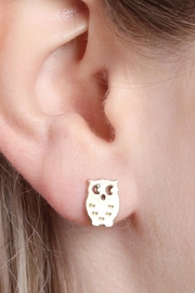 Riah Fashion Owl-&-Cactus 3-Pair Earring-Set - Front full body