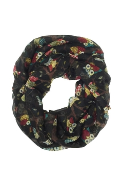 Shoptiques Product: Owl Print Infinity Scarf