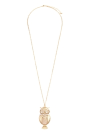 Riah Fashion Owl Two Tone Necklace - Product Mini Image