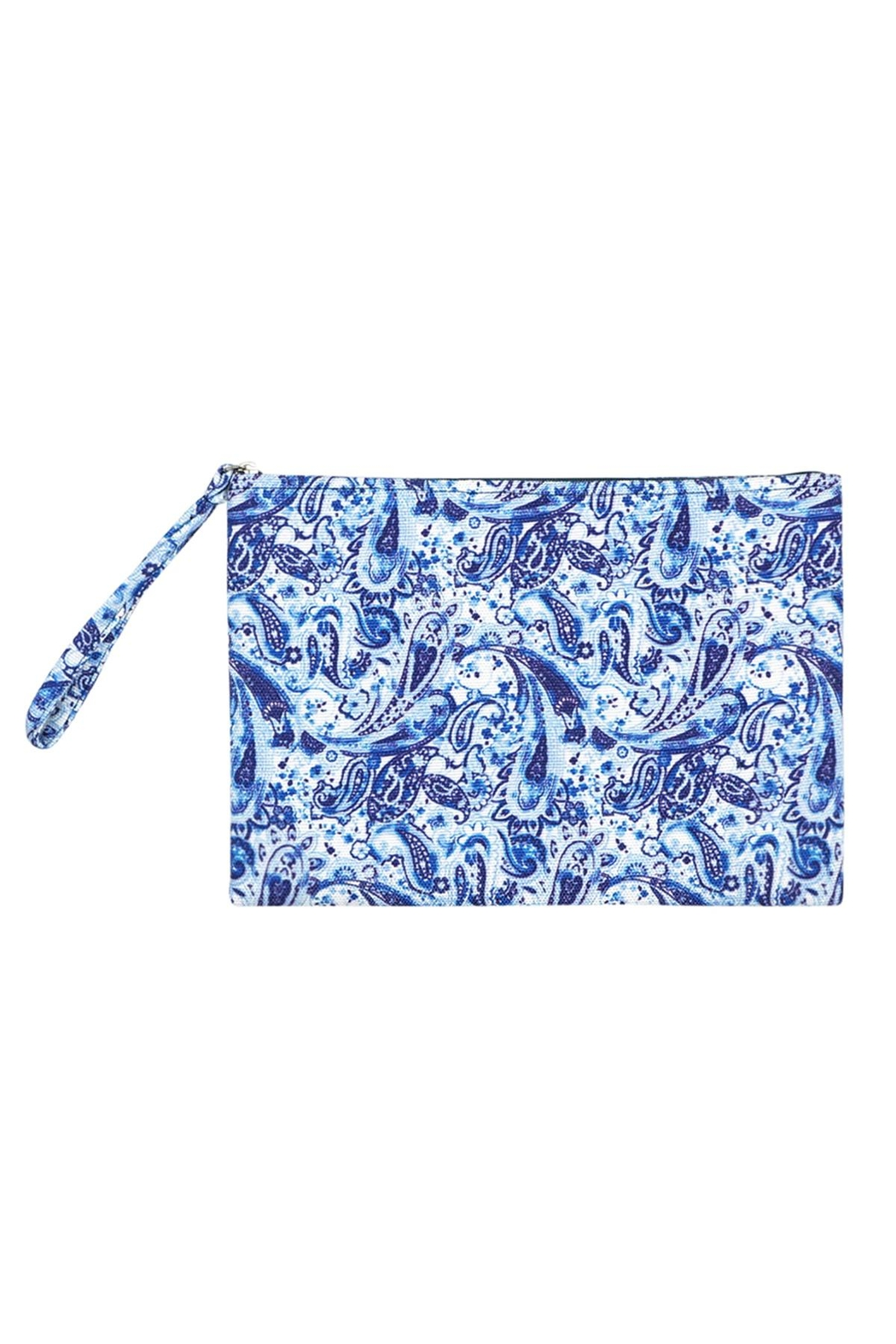 Riah Fashion Paisley Pouch - Front Cropped Image