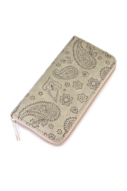 Riah Fashion Green Paisley Print Wallet - Product Mini Image