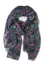 Riah Fashion Paisley Printed Oblong Scarf - Front cropped