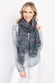 Riah Fashion Paisley Printed Oblong Scarf - Side cropped