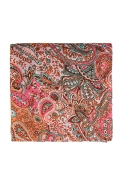Riah Fashion Paisley Printed Oblong Scarf - Front full body