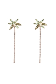 Riah Fashion Palm-Tree-Rhinestone-Drop-Post-Earring - Product Mini Image