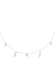 Riah Fashion Palm-Tree-&-Surfboard-Brass-Dainty-Necklace - Product Mini Image