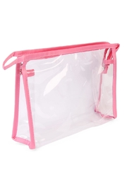 Riah Fashion Clear Cosmetic Bag - Side cropped
