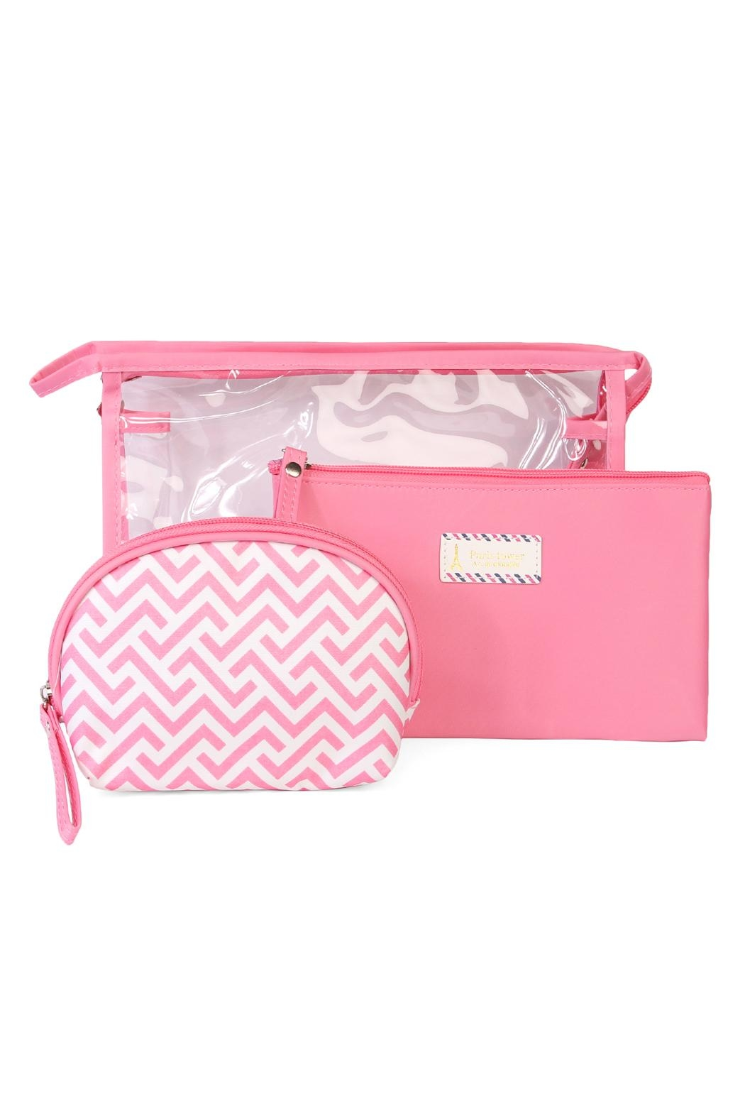 Riah Fashion Clear Cosmetic Bag - Front Cropped Image