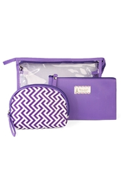 Riah Fashion Clear Cosmetic Bag - Front cropped