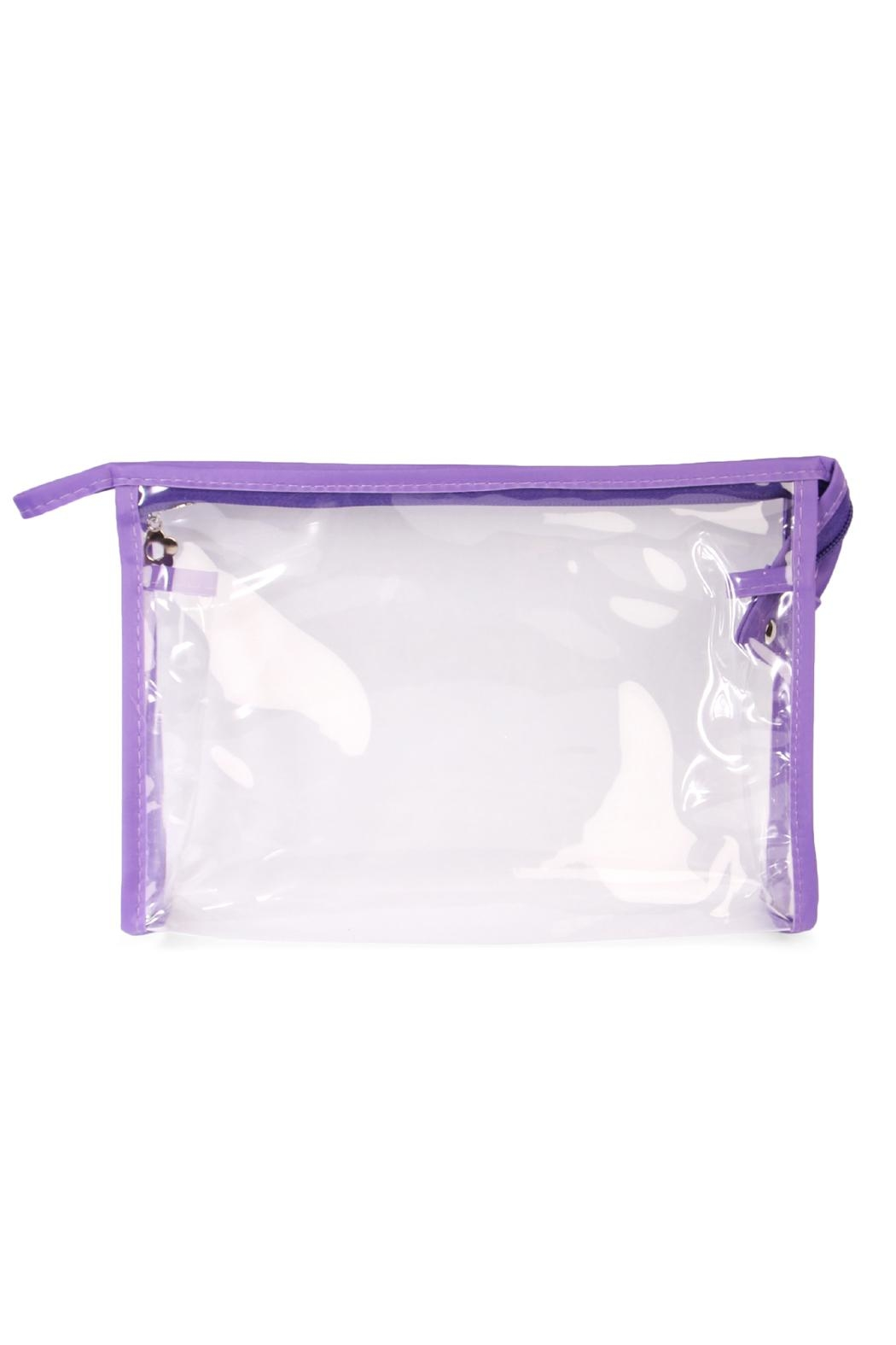 Riah Fashion Clear Cosmetic Bag - Front Full Image